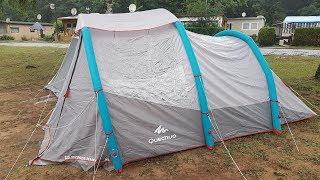Aufbau Quechua Familienzelt Air Seconds 4.1 XL