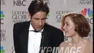 Джиллиан Андерсон, Gillian Anderson & David Duchovny on Golden Globes 1997