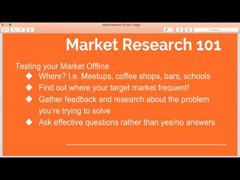 Online Course Market Research Part 1 - YouTube