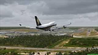 Singapore Airlines Boeing 747-400 landing in Kuala Lumpur (FSX HD)