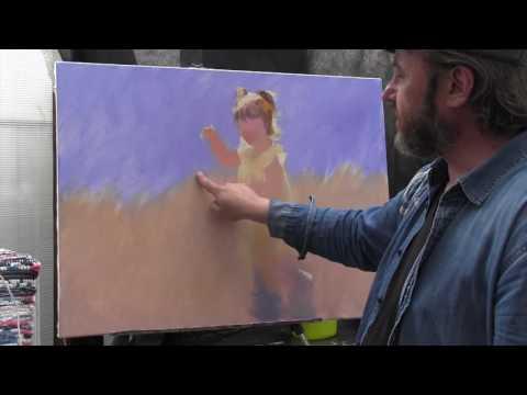 Девочка, бегущая за бабочкой 1 часть, художник Игорь Сахаров