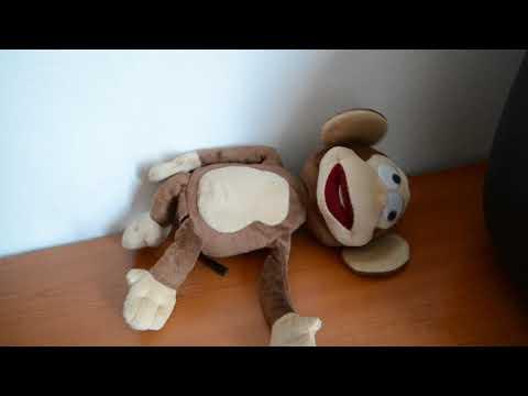Funny monkey - röhögő ,pukizó  plüss interaktív majom.  30 cm - Aukció - Vatera.hu Kép