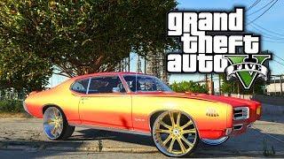 69' Pontiac GTO On 24s! GTA 5 Real Hood Life 3 #41 (Real Life Mod)