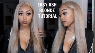 Easy Ash Blonde Tutorial + Review Ft Afsisterwig 613 Blonde Wig (BEGINNER FRIENDLY)