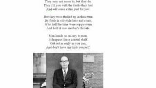 This Be the Verse by Philip Larkin (read by Larkin)