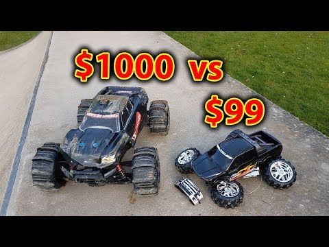 $1000 vs $99 RC Car Test with Demolition Derby