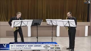 DUO D. BOKENKAMP & F. BAUERT play Konzerstuck by P. Hindemith #adolphesax