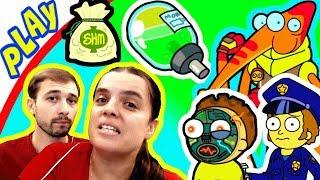 БолтушкА и ПРоХоДиМеЦ Наконец-то Победили ГЛАВНОГО РИКА! #134 Игра для Детей - Pocket Mortys