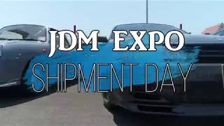 Shipment day at JDM EXPO GTR R32 , Nissan Figaro, Skyline R32