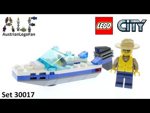Vidéo LEGO City 30017 : Le bateau de police (Polybag)