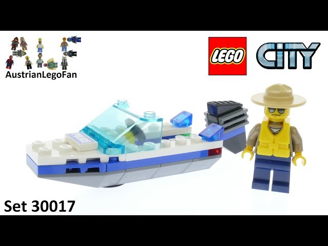 Lego City 30017 Police Boat - Lego Speed Build Review