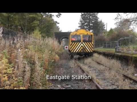 Riding a Wickham Railcar along the Weardale Railway 27th oct…