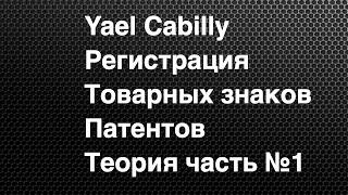Yael Cabilly Интеллектуальная собственность Регистрация товарных знаков и патентов в США часть №1