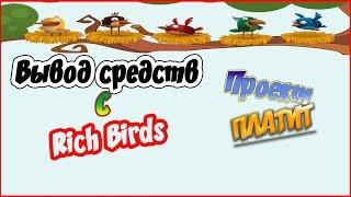 Вывод средств с проекта Rich Birds. Как приглашать рефералов.
