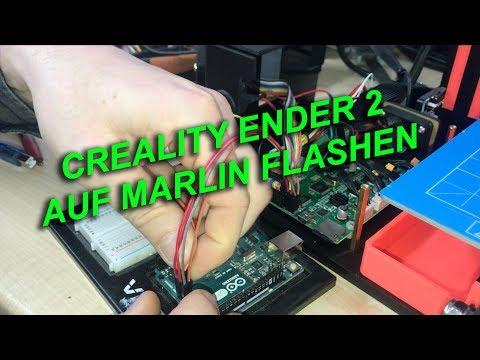 Creality Ender 2 CR-10 Marlin Firmware flash upgrade - смотреть