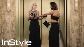 The Best Moments From InStyles 2018 Golden Globes Elevator | InStyle