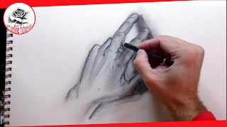 How To Draw Hands With Charcoal Drawing Techniques (Subtitled)