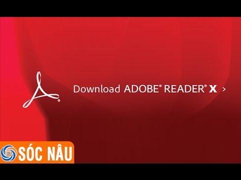 Cách tải chương trình đọc file PDF Adobe reader