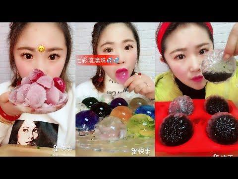 Renkli Buz Yemek Videoları - #137 ASMR (Colorful İce Eating)