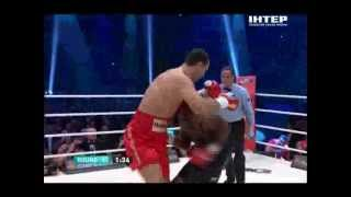 Кличко-Мормек 1 раунд