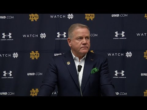 @NDFootball | Brian Kelly Press Conference - Signing Day (2019)