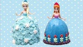 Elsa and Anna Mini Frozen Cakes - How To Make by CakesStepbyStep