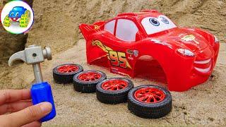 Assembling Lightning Mcqueen Racing Cars #2 - Toys for Kids | Kid Studio