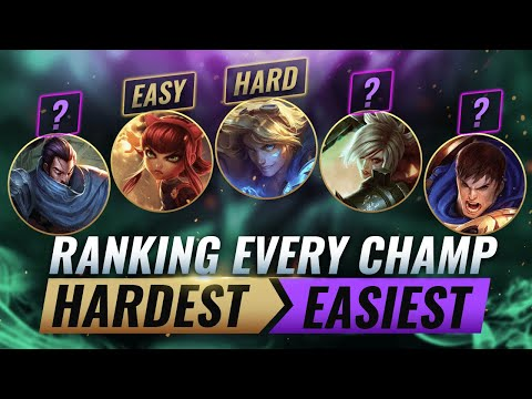 Ranking EVERY CHAMPION From HARDEST To EASIEST - League of Legends Season 10