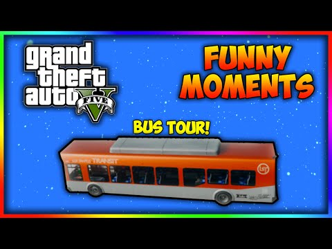 GTA V | FUNNY MOMENTS - SAN ANDREAS BUS TOUR Hosted By Nicole