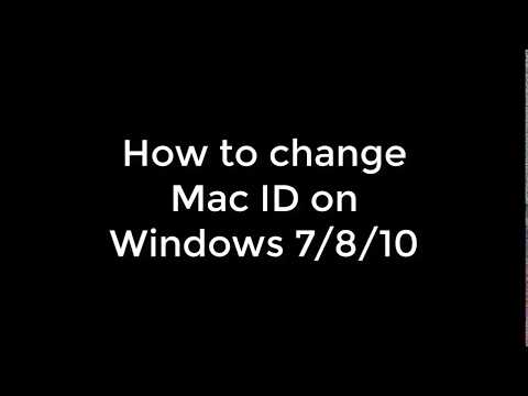 How To Change Your Mac Address - Windows 7/8/10 - Done Easy. Mp3