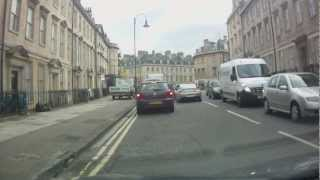 preview picture of video 'A Drive Through Bath, Somerset'