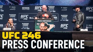 UFC 246 Press Conference Video - MMA Fighting