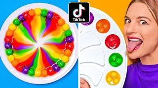 混合 10000顆彩虹糖 || 123 GO! CHALLENG 100層! 巨型彩虹糖彩虹! 科學實驗!
