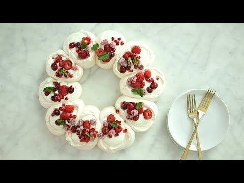 Pavlova Wreath- Everyday Food with Sarah Carey