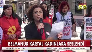 SAMSUN'UN TEK KADIN BELEDİYE BAŞKAN ADAYINDAN 8 MART KUTLAMASI