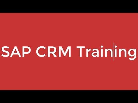 SAP CRM Training - SAP CRM Sales (Video 3) | SAP CRM - YouTube