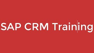 SAP CRM Training - SAP CRM Sales (Video 3) | SAP CRM