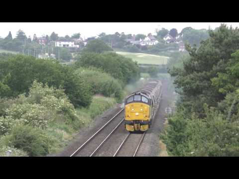 Colas Rail 37175 & 37219 on the Heart of Wales Line with a b…