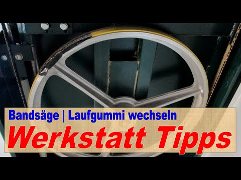 Wie wechsle ich den Bandsägengummi? | How can I change the bandsaw rubber? | Projekt 3