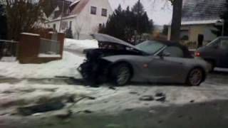 BMW Z4 Cabrio Crash Meckelfeld Germany