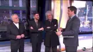 QUEEN + ADAM LAMBERT ANNOUNCE 2014 TOUR - GMA (6 March)