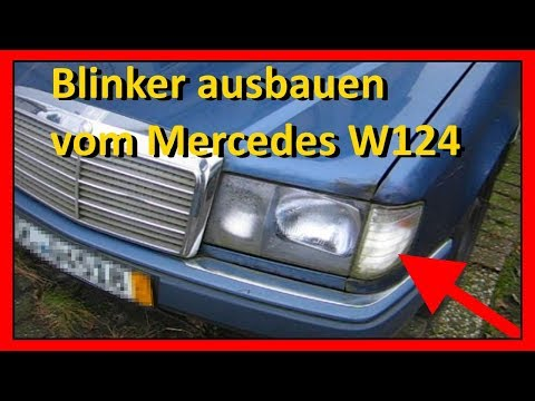Blinker vom Mercedes W124 ausbauen bzw. wechseln (Anleitung, Tutorial)