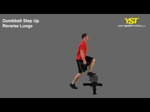Dumbbell Step-up to Reverse Lunge
