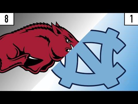 8 Arkansas vs. 1 North Carolina Prediction | Who's Got Next?