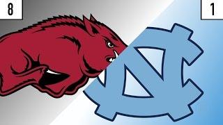 8 Arkansas vs. 1 North Carolina Prediction   Who