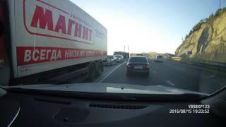 """ДТП """"Волчьи ворота"""" Новороссийск 15.08.2016"""