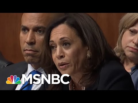 WATCH: Sen. Kamala Harris, Showing Off Prosecutorial Prowess, Puts AG Barr On His Heels | MSNBC