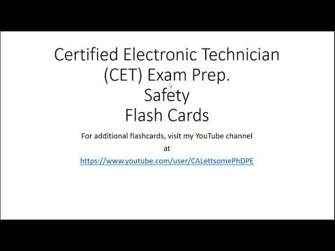 Certified Electronic Technician CET Exam Prep Safety - YouTube