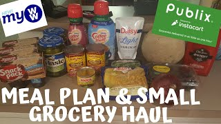 MEAL PLAN (NOTHING SPECIAL THIS WEEK) & SUPER SMALL PUBLIX INSTACART HAUL! | MyWW