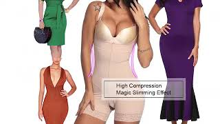 full body power slimmed body shaper in boyshort style